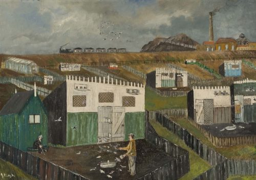 Pigeon Crees by Jimmy Floyd, 1938. Oil on Wallboard © Ashington Group Trustees.