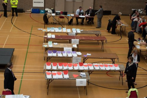 Wansbeck Constituency General Election Count, by Michael Flynn, 2015. © Ashington District Star / Michael Flynn.